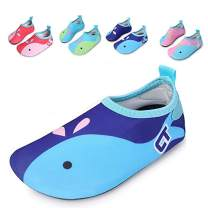 JACKSHIBO Kids Swim Water Shoes Quick Dry Barefoot Aqua Socks Shoes for Beach Surf Yoga Exercise