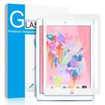 """SMAPP iPad 9.7"""" (2018/2017) / iPad Pro 9.7 Inch/iPad Air 2 / iPad Air Screen Protector, Tempered Glass for iPad 6th / 5th Gen Screen Protector [Anti-Scratch] [Colored Border] Apple Pencil Compatible"""