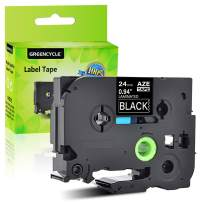 GREENCYCLE 1 PK Compatible for Brother Laminated Labeling Tape Cassette White on Black 24 mm x 8 m 1'' 26.2ft TZe355 TZ-355 TZe-355 TZ355 TZe TZ 355 P-Touch PT2430PC PT-P700 PT-P750W Label Marker