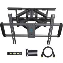 PERLESMITH Full Motion TV Wall Mount Fits 16 18 24 Inch Wood Studs - Dual Arms Articulating TV Mount for 37-75 Inch LED, LCD, OLED TVs up to 132lbs VESA 600x400 - Model PSLFK3-24