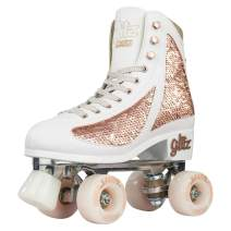 Crazy Skates Glitz Roller Skates for Women and Girls - Dazzling Glitter Sparkle Quad Skates
