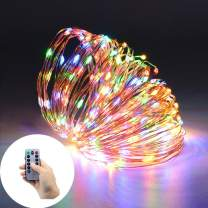 150 LED String Lights, 8 Modes Battery Operated Flexible Copper Wire Lights, Indoor/Outdoor Decoration Waterproof Fairy Lights for Christmas, Patio, Garden, Weeding, Party. (Multicolor)