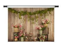 Kate 7x5ft Wood Spring Photo Backdrops Flowers Decorations Floral Birthday Party Microfiber Photo Background