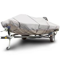 "Budge B-611-X5 600 Denier Low Profile Flat Front Boat Cover Gray 17'-19' Long (Beam Width Up to 102"") Waterproof, UV Resistant"
