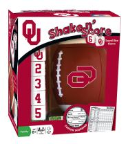 MasterPieces NCAA Oklahoma Sooners, Shake N' Score Travel Dice Game, with Custom Scorepad, For Ages 6+