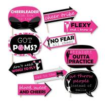 Funny We've Got Spirit - Cheerleading - Birthday Party or Cheerleader Party Photo Booth Props Kit - 10 Piece