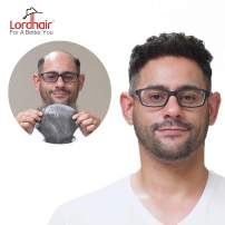Lordhair Toupee for Men With 100% Human hair and 0.03mm Supper Skin Color 1A(26 Colors Available)