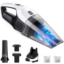 Holife Handheld Vacuum Cordless Cleaner Rechargeable, 14.8V Portable Powerful Cyclonic Suction Hand Vacuum with Quick Charge, Lightweight Wet Dry Lithium Vac for Home Pet Hair Car Cleaning