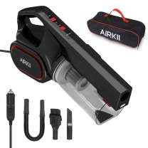 AIRKII Corded Car Vacuum Cleaner High Power 4000PA Washable Stainless Steel HEPA Filter Auto Vacuum