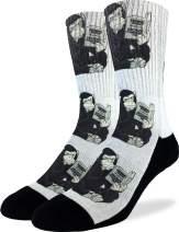 Good Luck Sock Men's Origin of Species Socks - Black, Adult Shoe Size 8-13