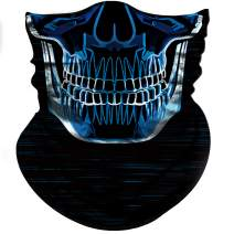 Obacle Skull Face Mask Half for Dust Wind Sun Protection Seamless 3D Tube Mask Bandana for Men Women Durable Thin Breathable Skeleton Mask Motorcycle Riding Biker Fishing Cycling Sports Festival