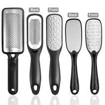 Foot File, 3 Sets of Professional Pedicure Foot File Callus Remover Kit, Double-Sided Stainless Steel Dead Skin Remover for Men and Women, Both On Dry and Wet Feet
