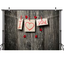 LYWYGG 7x5FT Mother's Day Backdrop Wood Backdrops of Thank You Dad Photo Backdrop for Thanks Father's Love Banner Photo Studio Party Decoration CP-25