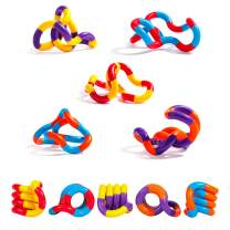 Lamlingo 5 Sets Fidget Toys,Finger Sensory Toys,Tangles Fidget Toys,Relax Therapy Stress Relief Feeling Winding Toy for Adults, ADHD Tools for Kids