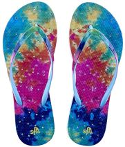 Showaflops Womens' Antimicrobial Shower & Water Sandals for Pool, Beach, Dorm and Gym - Boho Bliss Collection