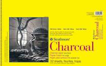 "Strathmore 300 Series Charcoal Pad, White , 11""x17"" Wire Bound, 32 Sheets"