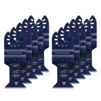 Norske Tools NOTP278 1 1/4 inch Flush Cut Japanese Tooth Bi-metal Oscillating Multi Tool Accessory Blade Universal Fit for Hardwood (10pc Pack)