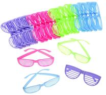 PowerTRC 80's Sunglasses Party Favors Kids Shutter Shades Assorted Colors 24 Pack