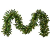 "Vickerman 9' x 14"" Pre-Lit Mixed Pine Cashmere Artificial Christmas Garland - Clear Lights"