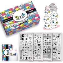 BORN PRETTY x KunCat Brand Collaboration Nail Stamping Starter Kit 4 Stamping Plate 1 Nail Stamper 1 Scraper Uniquie Design Nail Art Gift Set