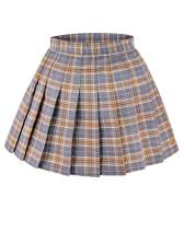 DAZCOS US Size 0-22 Plaid Skirt High Waist Japan School Skirts with Shorts for Women