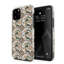 BURGA Phone Case Compatible with iPhone 11 PRO MAX - Vintage Flower Pattern for Girls Woman Boho Bohemian Summer Mosaic Pattern Heavy Duty Shockproof Dual Layer Hard Shell + Silicone Protective Cover