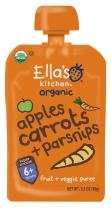 Ella's Kitchen Organic 6+ Months Baby Food, Apples Carrots & Parsnips, 3.5 oz. Pouch (Pack of 6)