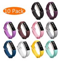 KingAcc Compatible Replacement Bands for Fitbit Alta HR, Fitbit Alta, Silicone Fitbit Alta HR Band Alta Band, Buckle Wristband Strap Women Men (10-Pack, 10 Colors, Large)