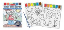 Melissa & Doug Paint With Water Kids' Art Pad With Paintbrush - Sports, Playtime, Circus, and More