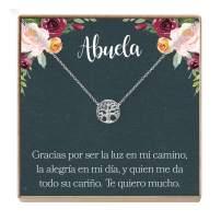 Collar Regalo para Abuela, Día de la Madre, Cumpleaños, Día de la Mujer, Tree
