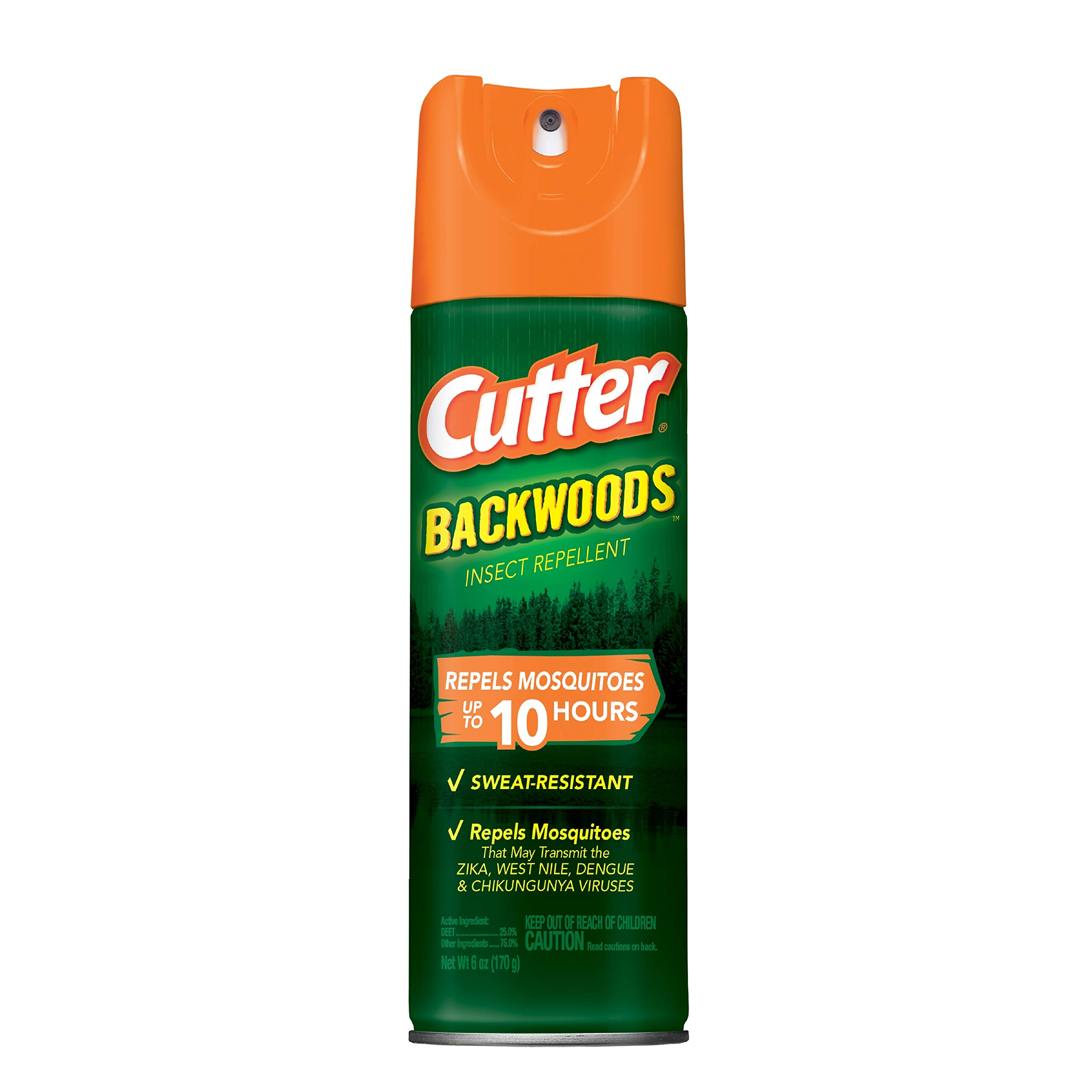 Cutter Backwoods Insect Repellent, Aerosol, 6-Ounce, 12-Pack