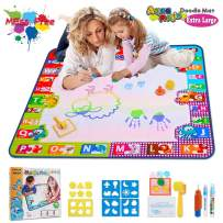 Aqua Magic Doodle Mat Toys for 2 Year Old Girls Kids Toy Toddler Painting Board with 2 Magic Pens, 1 Magic Brush, and Drawing Accessories for Boys Girls Size 30.3'' x 30.3''