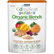 Compleat Pediatric Organic Blends Chicken-Garden, 10.1 fl oz Pouch, 24 Count