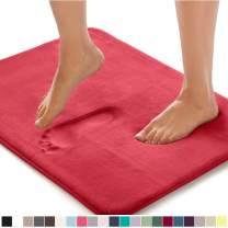 Gorilla Grip Original Thick Memory Foam Bath Rug, 30x20, Cushioned, Soft Floor Mats, Absorbent Premium Bathroom Mat Rugs, Machine Washable, Luxury Plush Comfortable Carpet for Bath Room, Hot Pink