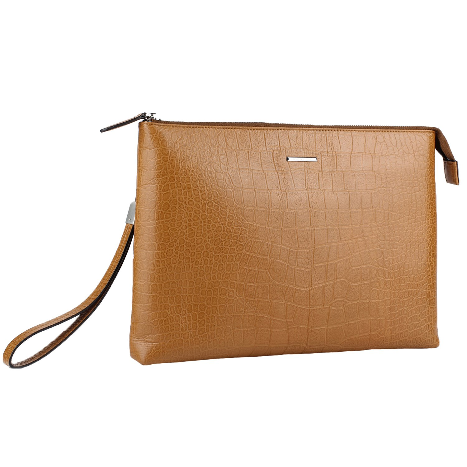 """Banuce Genuine Leather Sleeve Case for 9.7"""" iPad and Laptop Tablet Bag Clutch Purses Wallet"""