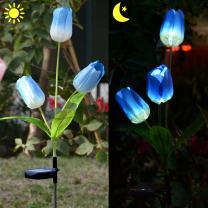 Homeleo Outdoor Solar Tulip Led Flower Lights, Solar Garden Stake Flowers, Decorative Solar Patio Lawn Lamp, Path Landscape Inground Light Up Flowers Lights