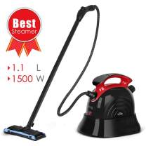 SIMBR Steam Cleaner, Multipurpose Steam Mop with 13 Accessories, 1.1L Chemical-Free Household Steamer Cleaning for Floors, Carpet, Garment, Windows, Autos and More