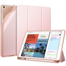 "Fintie SlimShell Case for iPad Air 3rd Gen 10.5"" 2019 / iPad Pro 10.5 Inch 2017 with Built-in Pencil Holder - Lightweight Smart Stand Soft TPU Back Cover, Auto Wake/Sleep (Rose Gold)"