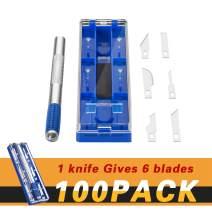Case of 100, ORIENTOOLS Craft Hobby Knife Precision Steel Cutter Set for DIY Art Work Cutting