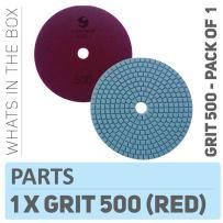 "Stadea PPW197D Diamond Polishing Pads 5"" For Concrete Terrazzo Marble Granite Countertop Floor Wet Polishing, Grit 500"