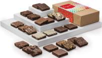 Fairytale Brownies Congratulations Double Dozen Gourmet Chocolate Food Gift Basket for New Home Anniversary New Baby and More - 3 Inch Square Full-Size Brownies - 24 Pieces - Item LG124
