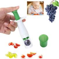 Grape Cutter for Kids, Grape Slicer Cutter Creative Cut Tools for Salad Gadget and Baby Auxiliary Food, Grape Slicer Kitchen Gadget Cherry Tomato Slicer Baby Fruit Slicer (Stainless Steel Blade)