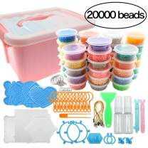 STUHAD 20000 Pieces Water Fuse Beads Kit Magic Water Sticky Beads 40 Colors Water Spray Beads Set Compatible with Art Crafts Toys as Christmas Gifts