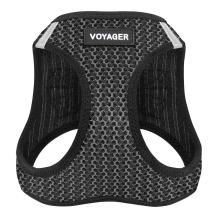 """Voyager Step-in Air Dog Harness - All Weather Mesh, Step in Vest Harness for Small and Medium Dogs by Best Pet Supplies - Gray, Small (Chest: 14.5"""" - 17""""), 207-GR-S"""