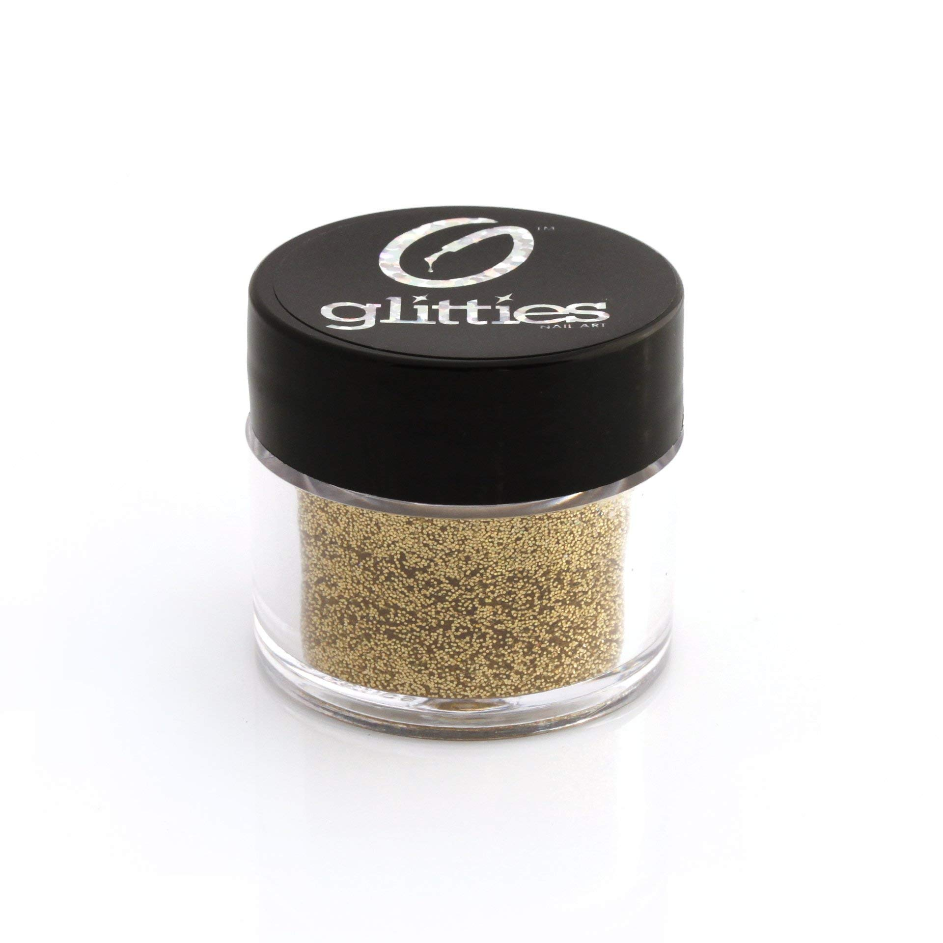 """GLITTIES - Gold Jewel - (.008"""") - Fine Glitter Powder - Gold Holographic Fine Glitter Powder- for nail art or mix with gel nail polish, gel and acrylic powder - (10 Grams)"""