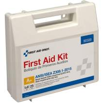 First Aid Only 90589 Plastic ANSI 2015 Class A+ First Aid Kit for 25 People