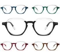 Yogo Vision Reading Glasses 5 Pack Comfort Spring Hinge Stylish Fashion Men & Women Readers