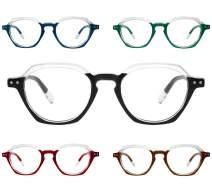 Yogo Vision Reading Glasses 5 Pack Comfort Spring Hinge Stylish Fashion Men & Women Readers