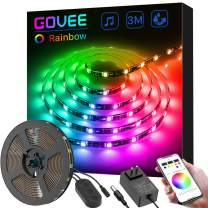 LED Strip Lights Dreamcolor, Govee 9.85ft Color Changing Light Strip with Build-in RGB IC, Bluetooth APP Control, Ultra Bright Music Sync LED Lights for Room TV Monitor Cabinet Desk, Waterproof