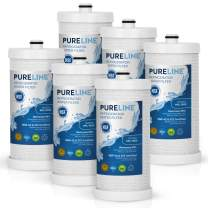 Pureline WFCB & NGRG 2000 Water Filter Replacement. Compatible with WF1CB, WFCB, NGRG 2000, RG-100 (6 Pack)